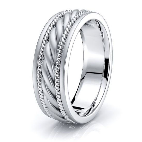 Alexander Mens Hand Braided Wedding Ring