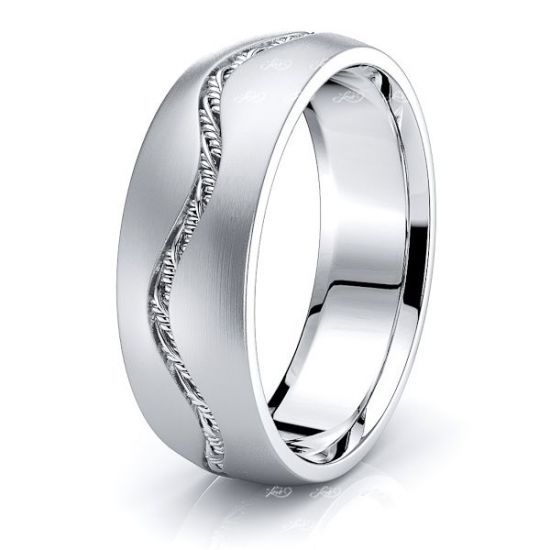 Daniel Mens Hand Braided Wedding Band