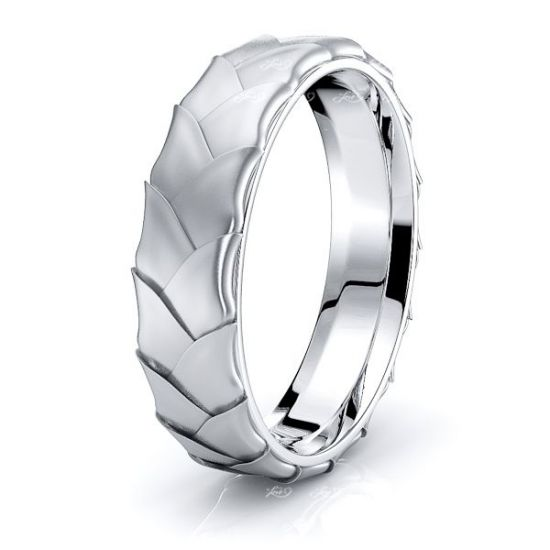 Andrew Hand Woven Mens Wedding Ring