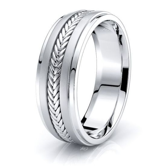 Brayden Mens Hand Braided Wedding Band