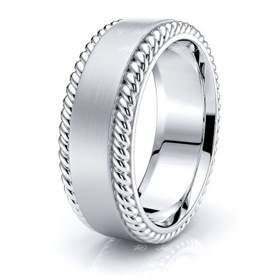 David Hand Woven Mens Wedding Ring