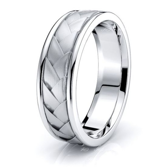 Max Hand Woven Mens Wedding Ring