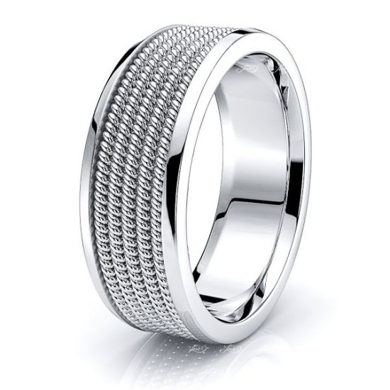 Colton Hand Woven Mens Wedding Ring