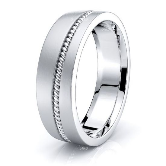 Alex Hand Woven Mens Wedding Band
