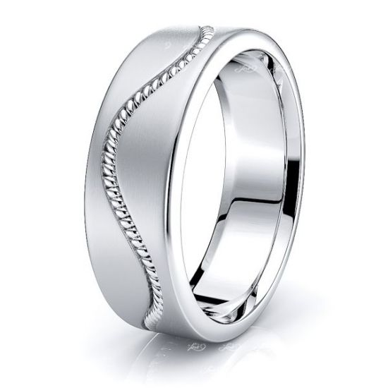 Jonathan Hand Woven Mens Wedding Band