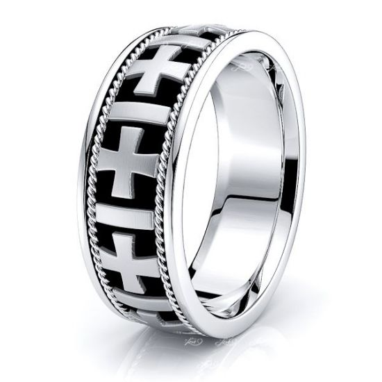 Christopher Christian Mens Hand Braided Wedding Ring