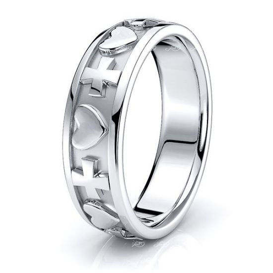 Leo Christian Handmade Mens Wedding Ring