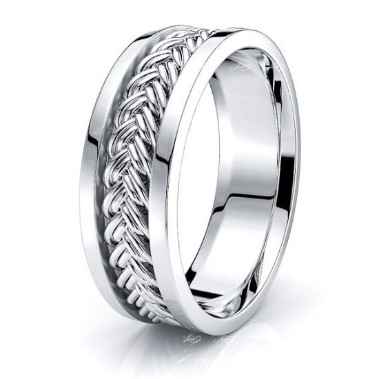 Tristan Hand Woven Mens Wedding Ring