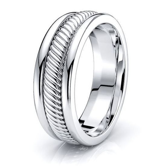 Xavier Hand Woven Mens Wedding Ring