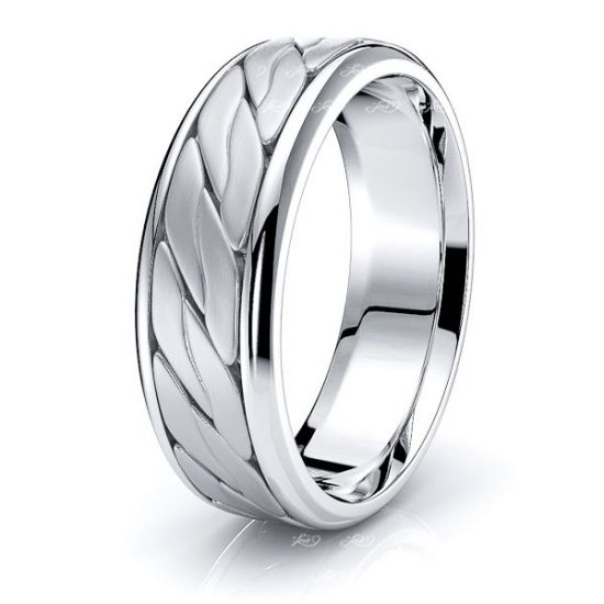 Camden Mens Hand Braided Wedding Band