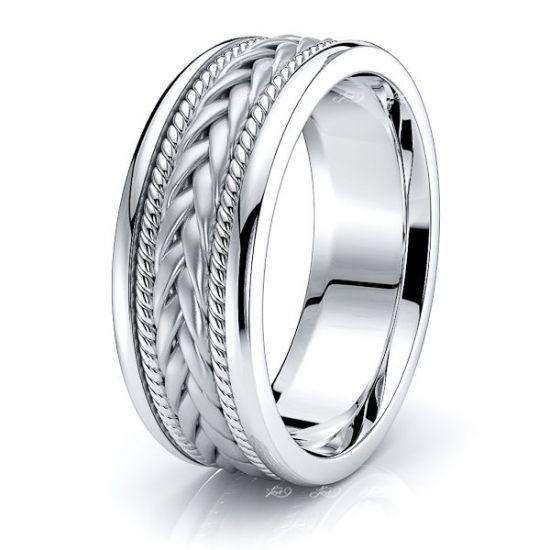 Colin Hand Woven Mens Wedding Ring