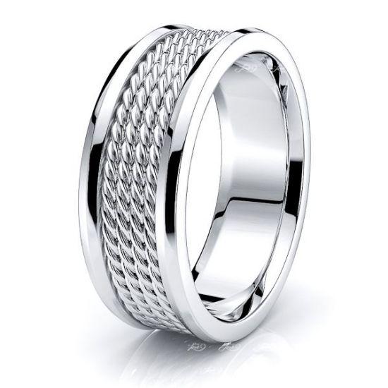 Easton Hand Woven Mens Wedding Ring