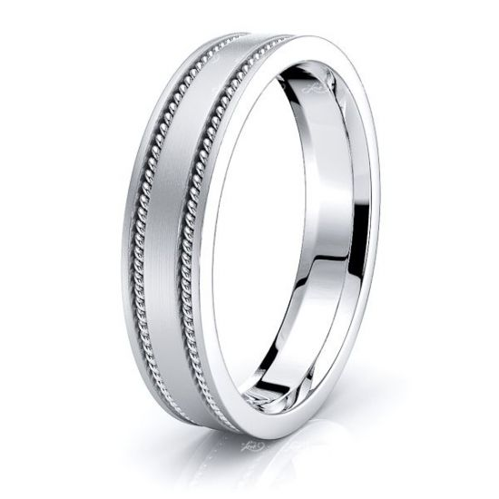 Nathaniel Mens Hand Braided Wedding Band