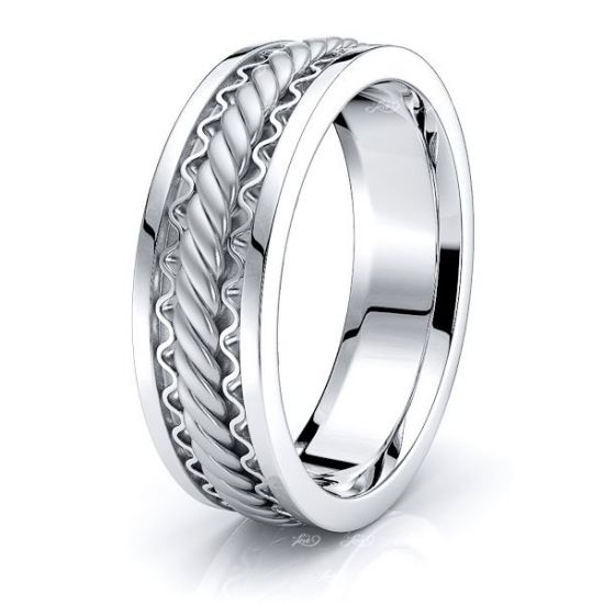 FinnHand Woven Mens Wedding Band