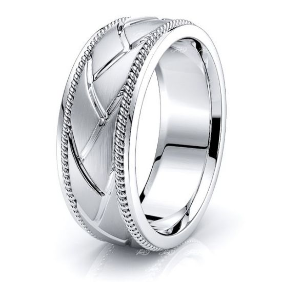 ArcherMens Hand Braided Wedding Ring