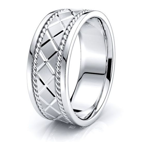 BeckettHand Woven Mens Wedding Band