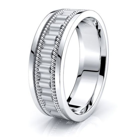 Jude Hand Woven Mens Wedding Band