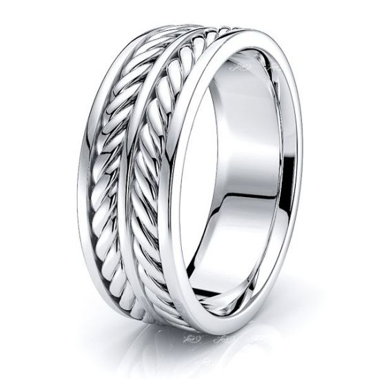 Theodore Mens Hand Braided Wedding Ring