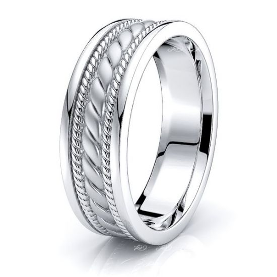 Emmett Hand Woven Mens Wedding Band