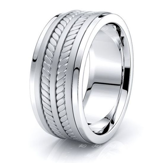 Oscar Mens Hand Braided Wedding Ring