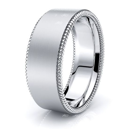 Callum Hand Woven Mens Wedding Ring