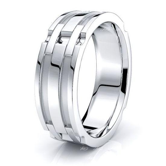 August Handmade Mens Wedding Ring