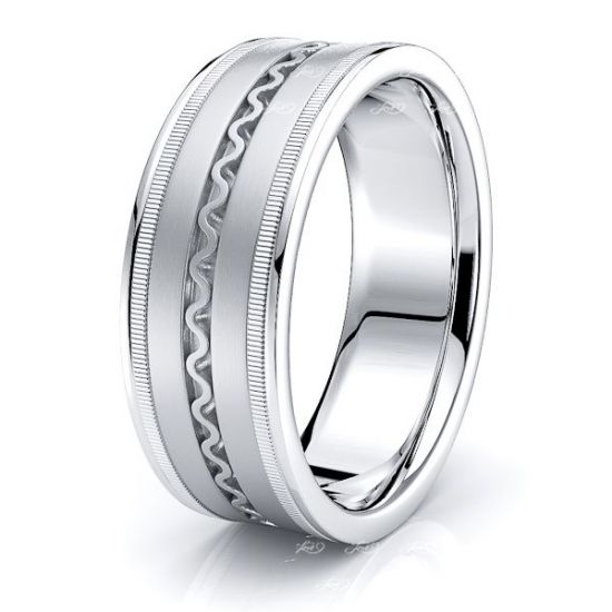 Nash Hand Woven Mens Wedding Ring