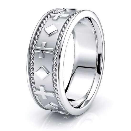 Thaddeus Religious Hand Woven Mens Wedding Ring