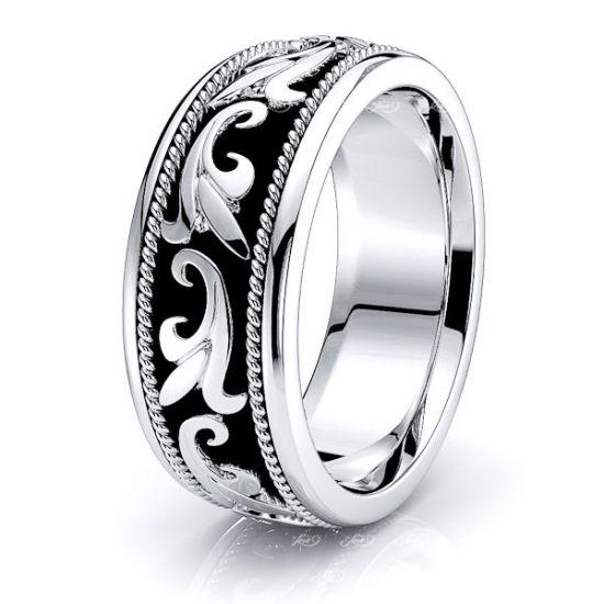 Caspian Antique Handmade Mens Wedding Ring