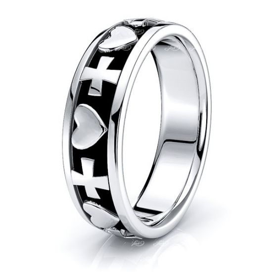 Flynn Christian Handmade Mens Wedding Ring