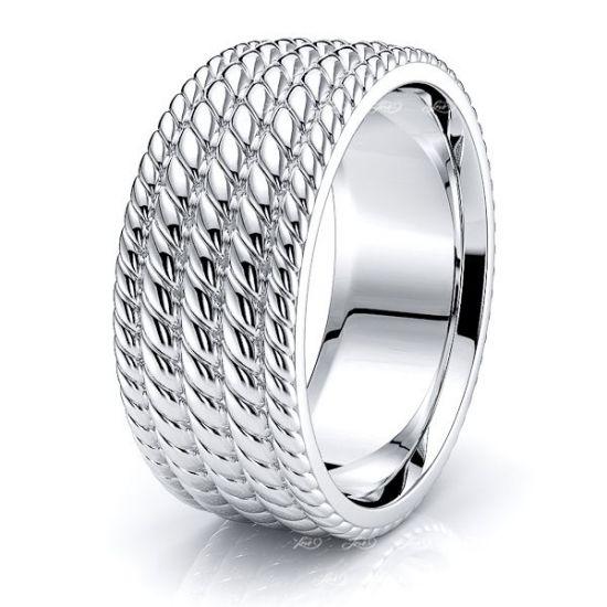 Edward Hand Woven Mens Wedding Ring