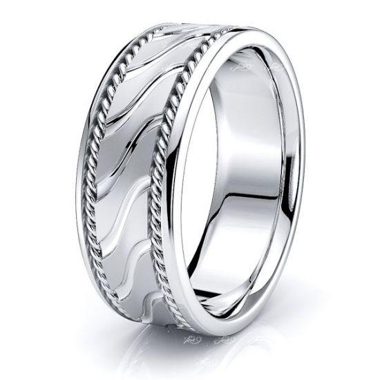 Lennox Mens Hand Braided Wedding Band