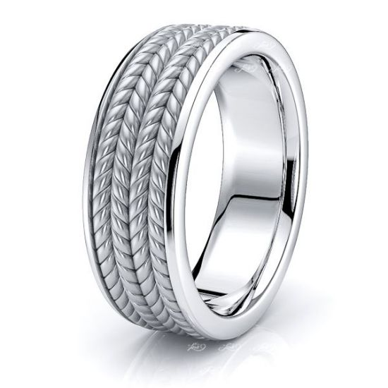 Augustus Hand Woven Mens Wedding Ring