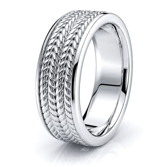 Amias Hand Woven Mens Wedding Ring