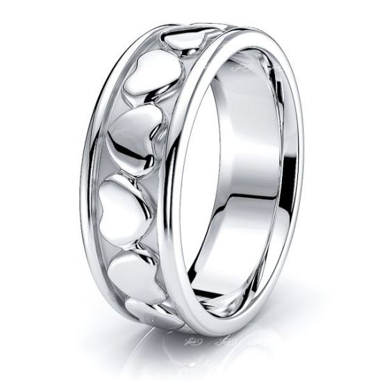 Phineas Handmade Heart Mens Wedding Band