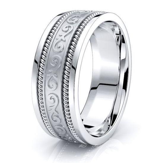 Magnus Mens Hand Braided Wedding Ring