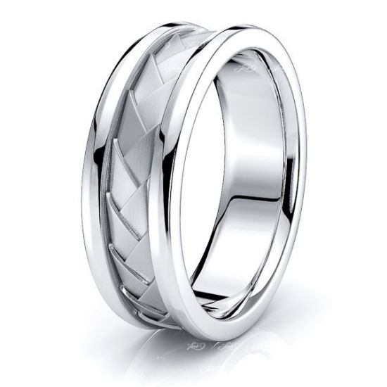 Louis Hand Woven Mens Wedding Band