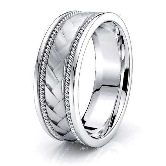 Frederick Mens Hand Braided Wedding Ring