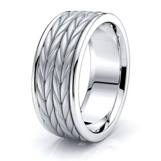 Harvey Mens Hand Braided Wedding Ring