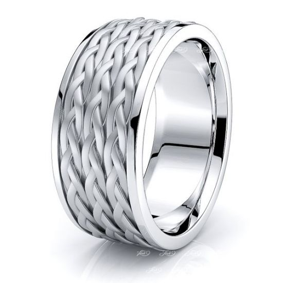 Maddox Mens Hand Braided Wedding Ring