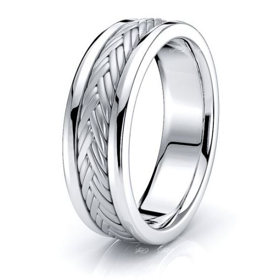 Byron Hand Woven Mens Wedding Band