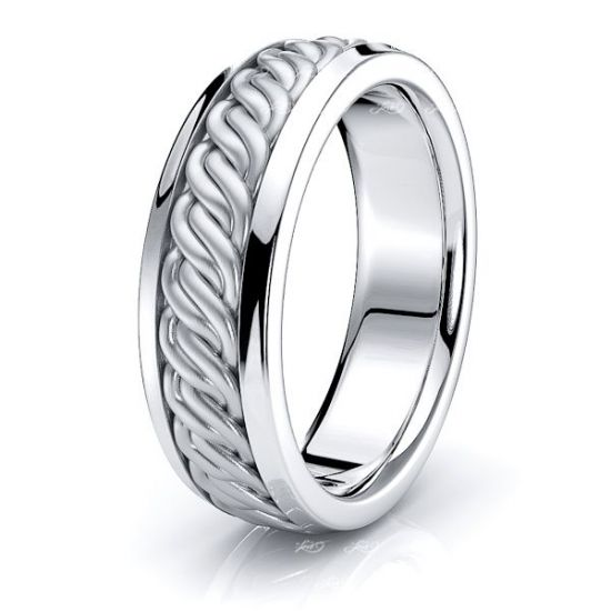Atlas Hand Woven Mens Wedding Band