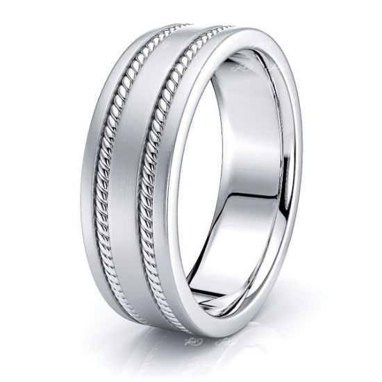 Lucius Mens Hand Braided Wedding Ring