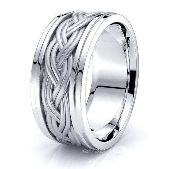 Hamish Hand Woven Mens Wedding Band