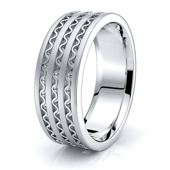 Abel Hand Woven Mens Wedding Band