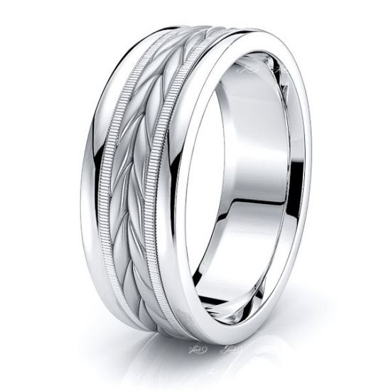 Reed Mens Hand Braided Wedding Ring