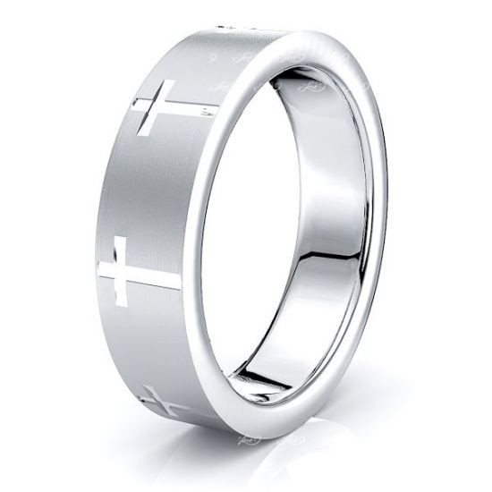 Clark Solid 6mm Religious Mens Wedding Band