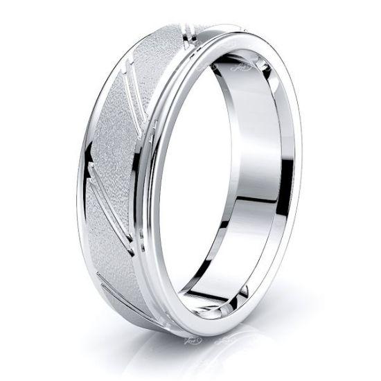 Minerva Solid 6mm Mens Wedding Ring