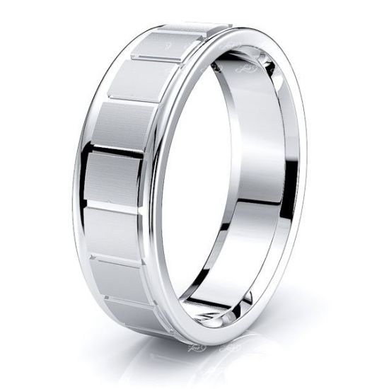 Elowen Solid 6mm Mens Wedding Band