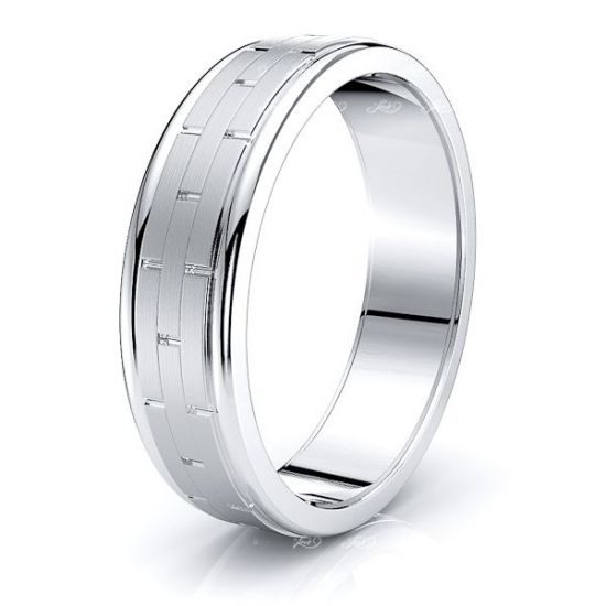 Nicole Solid 6.5mm Mens Wedding Ring